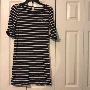 Navy and white stripped dress
